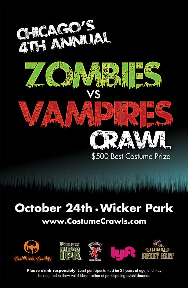 4th Annual Zombies vs. Vampires Pub Crawl