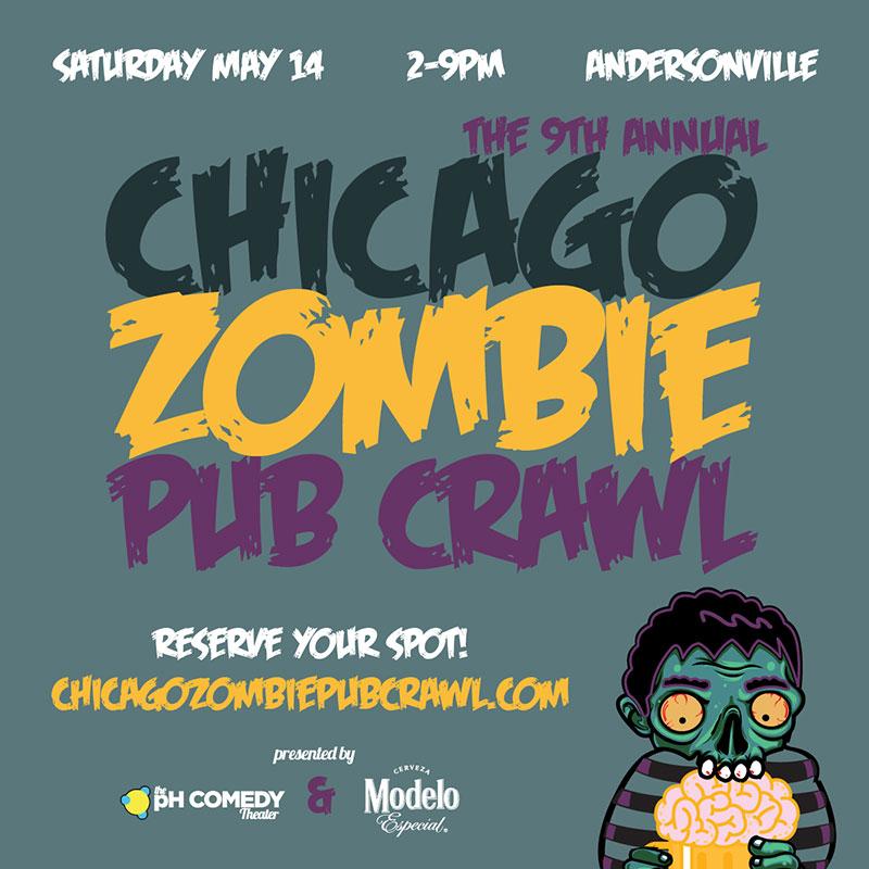 9th Annual Chicago Zombie Pub Crawl 2016